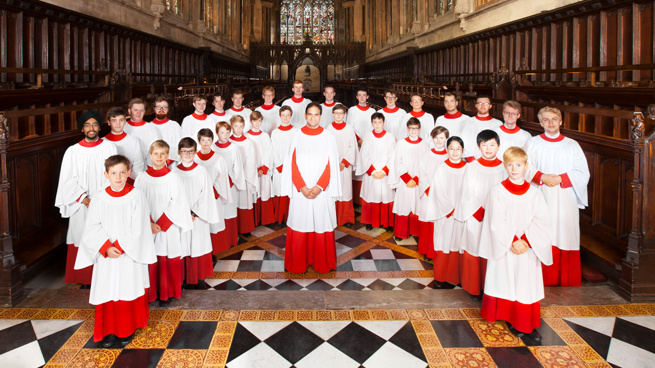 Choir of St. Johns College Cambridge. Photo by Nick Rutter