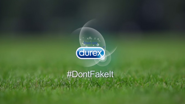 Durex Don't Fake It poster artwork