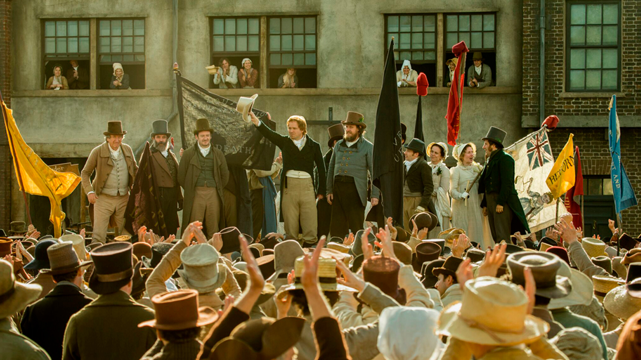 Peterloo, first-look production image. Photo by Simon Mein