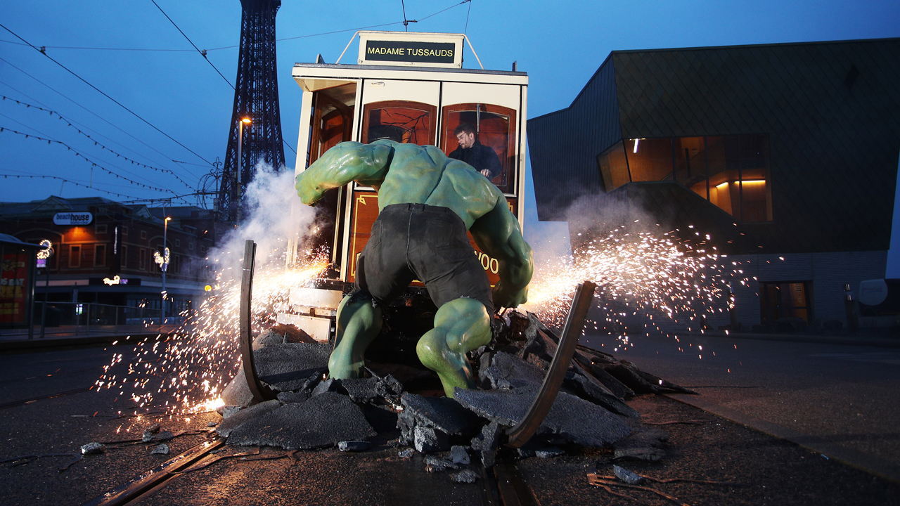 PR Stunt for the launch of Marvel Superheroes at Madam Tussauds Blackpool photo