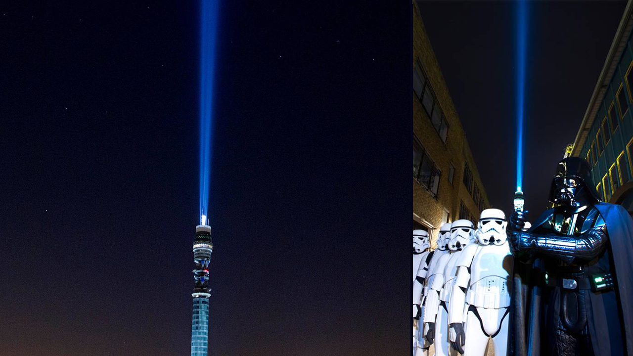 The world's largest Light Sabre