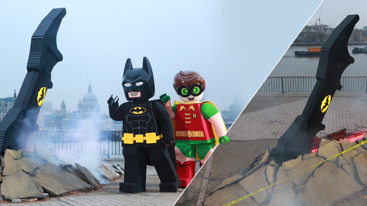 The Lego Batman movie photo collage