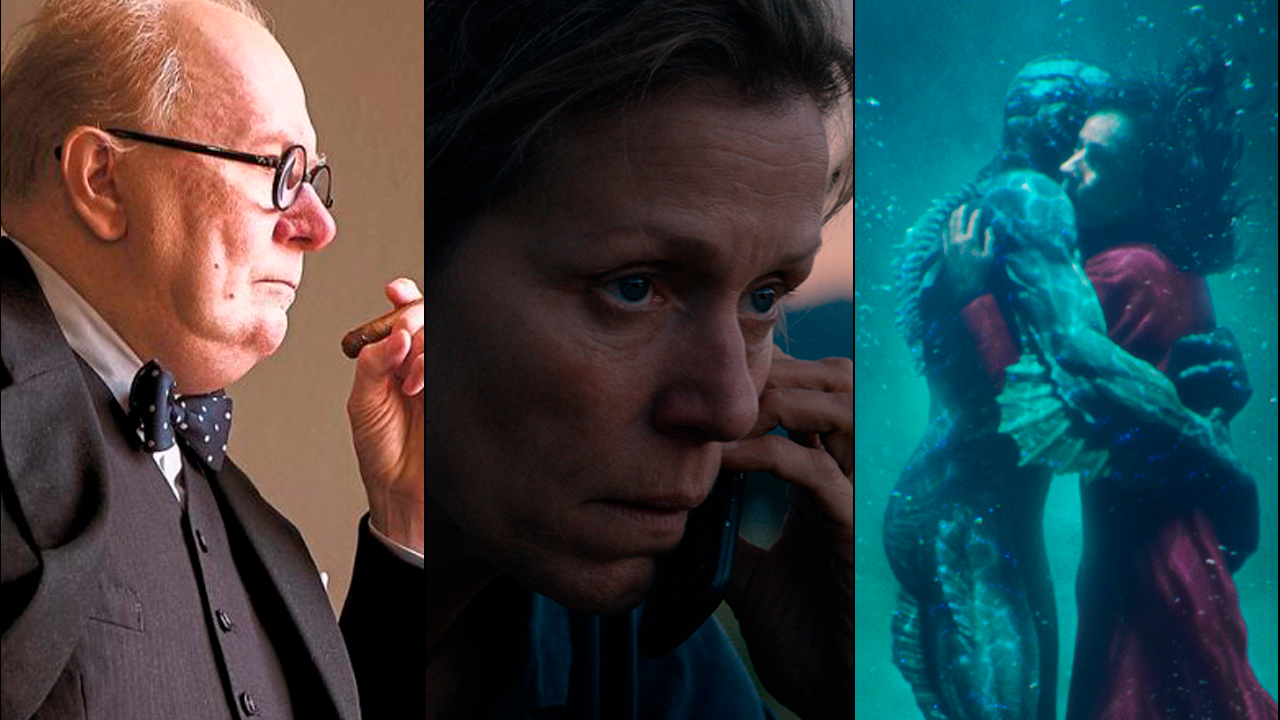 Premier Awards Season 2018, an image of the Darkest Hour, Shape of Water and Three Billboards