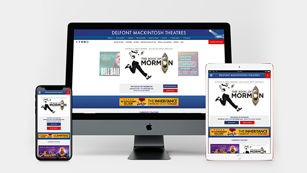 Delfont Mackintosh Theatres website screen device screengrabs