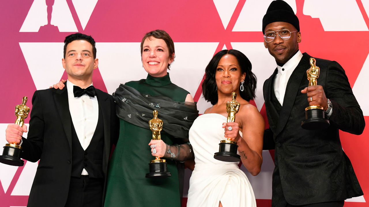 2019 Oscar® Winners - Rami Malek, Olivia Colman, Regina King and Mahershala Ali