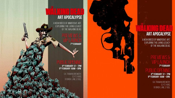The Walking Dead: Art Apocalypse poster artwork