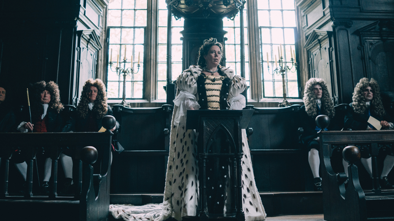 The Favourite production shot