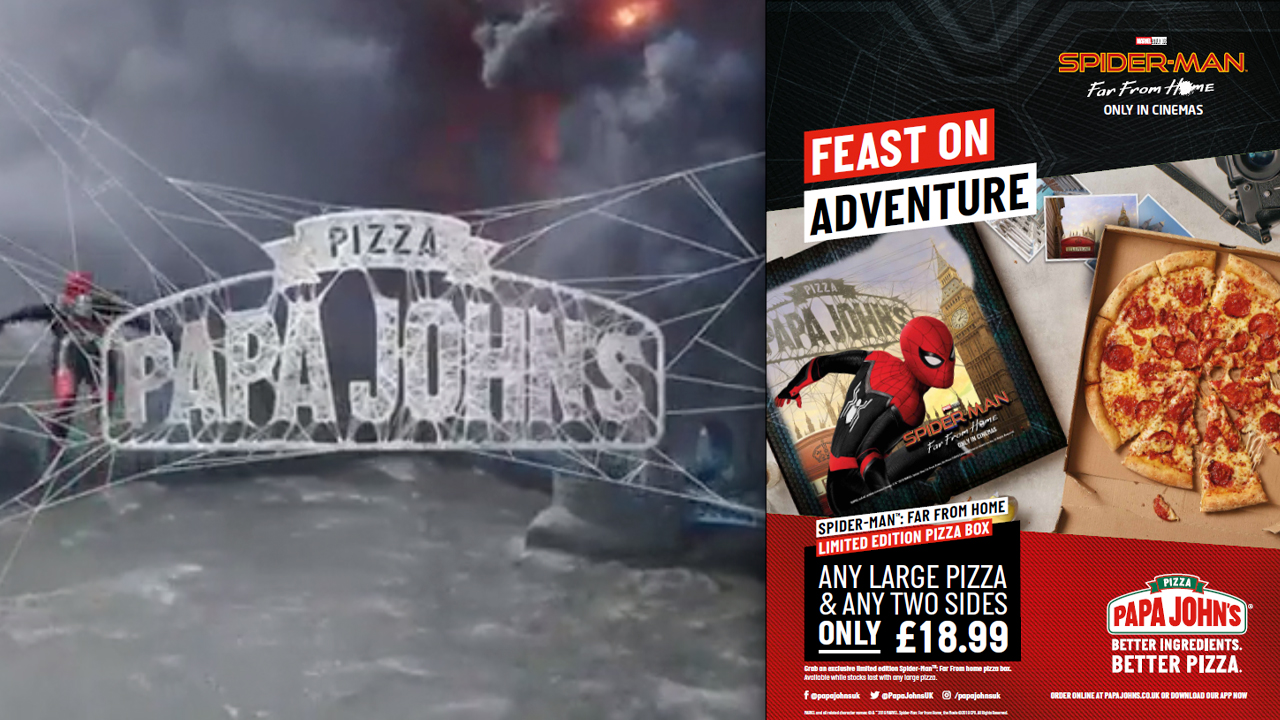 Spider-Man: Far From Home Papa John's video promotion