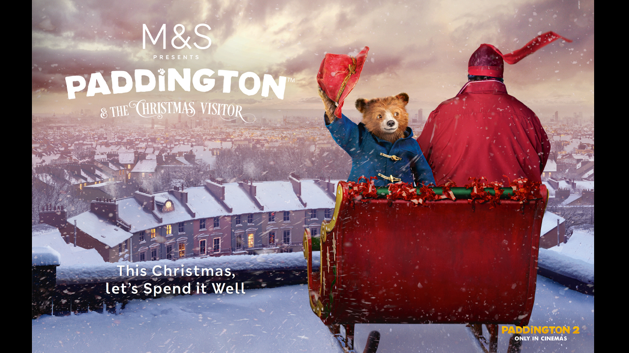 Marks and Spencers (M&S) Paddington 2 Christmas artwork