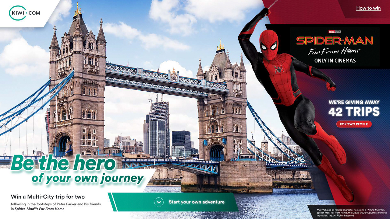 Spider-Man: Far From Home Kiwi.com promotional poster