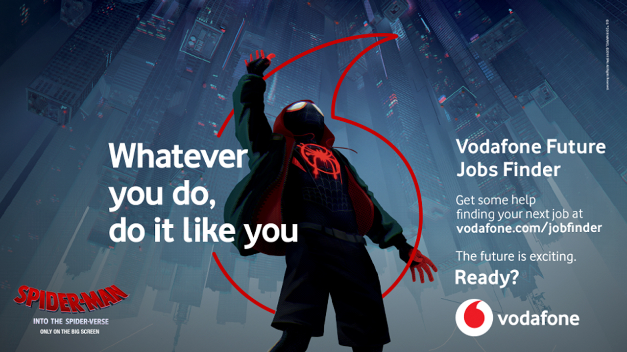 Spider-Man: Into The Spider-Verse Vodafone poster