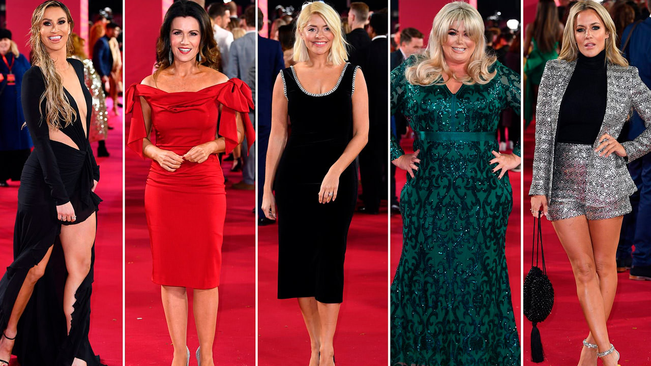 Montage of stars on the red carpet for ITV Palooza