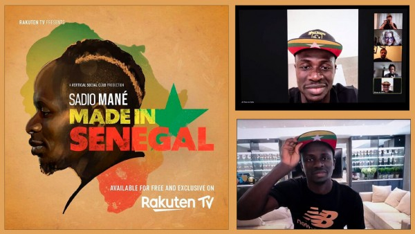 Sadio Mané: Made in Senegal montage and poster. Photography by Gary Huges