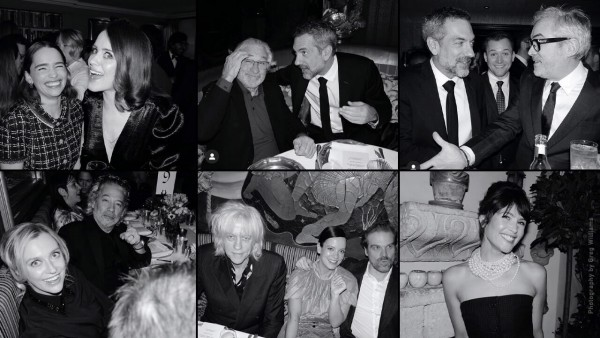Charles Finch and CHANEL Pre-BAFTA Dinner montage. Photography by Greg Williams