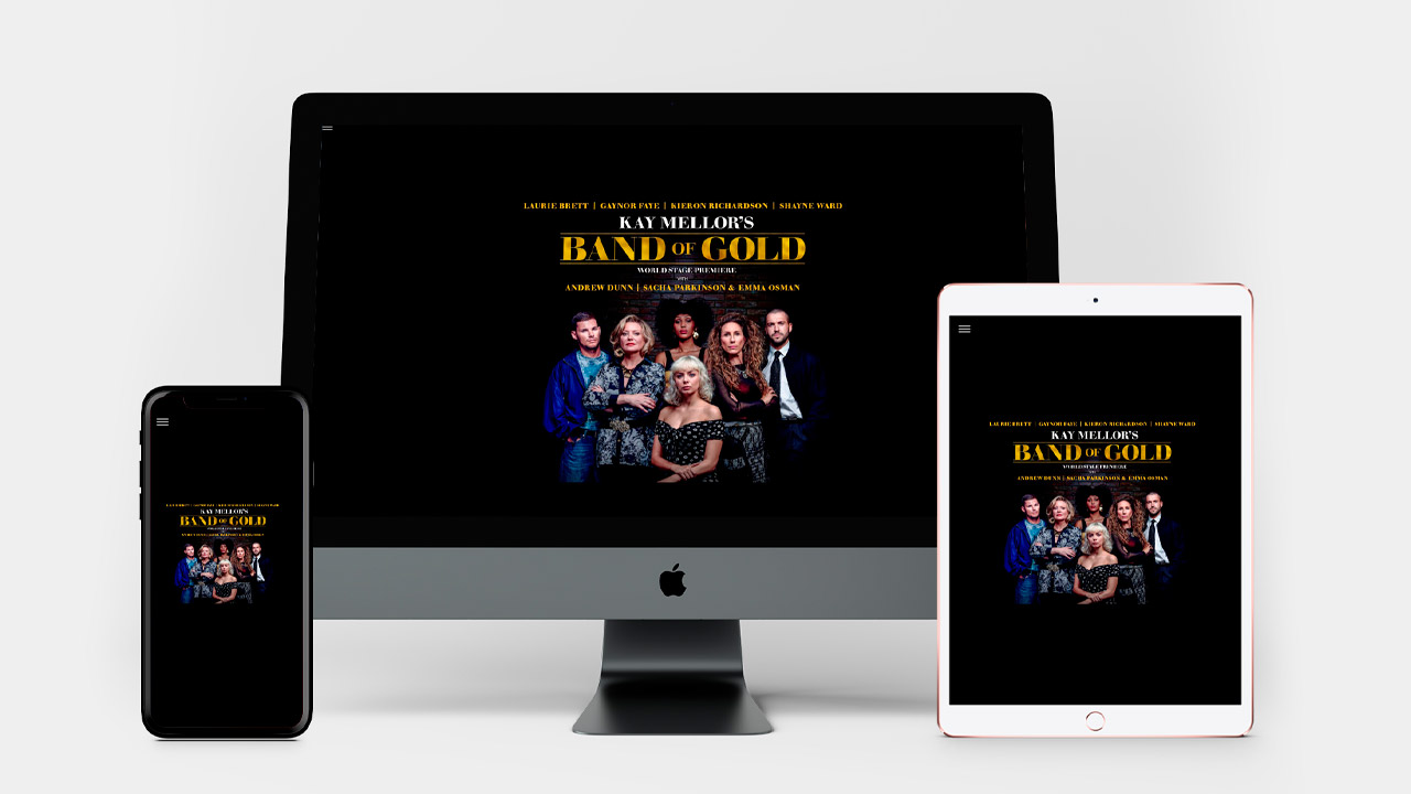 Band of Gold Website multiple devices views