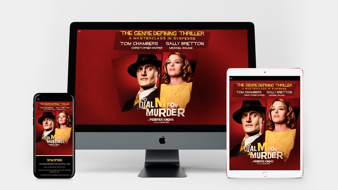 Dial M for Murder Website multiple devices views