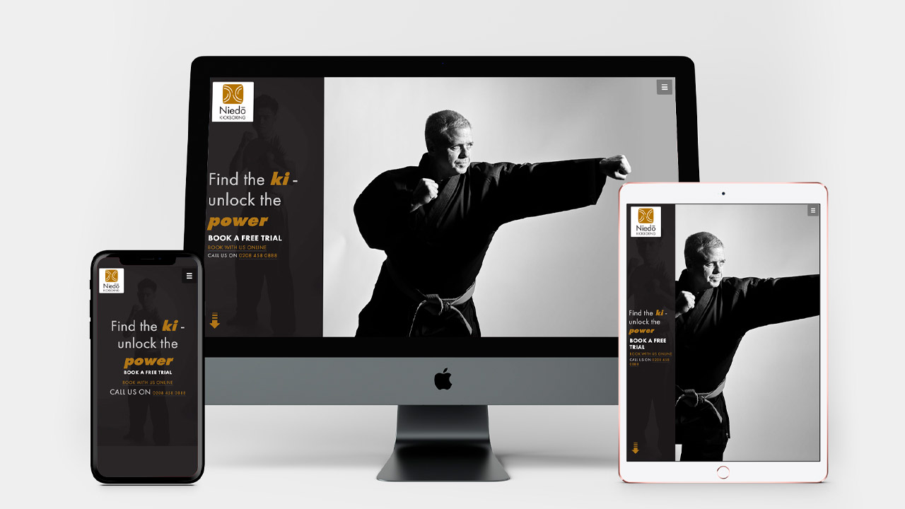 Niedō Kickboxing Website multiple devices views