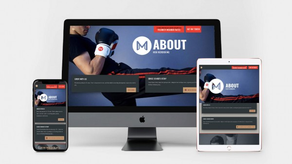 Meiji Kickboxing website device montage