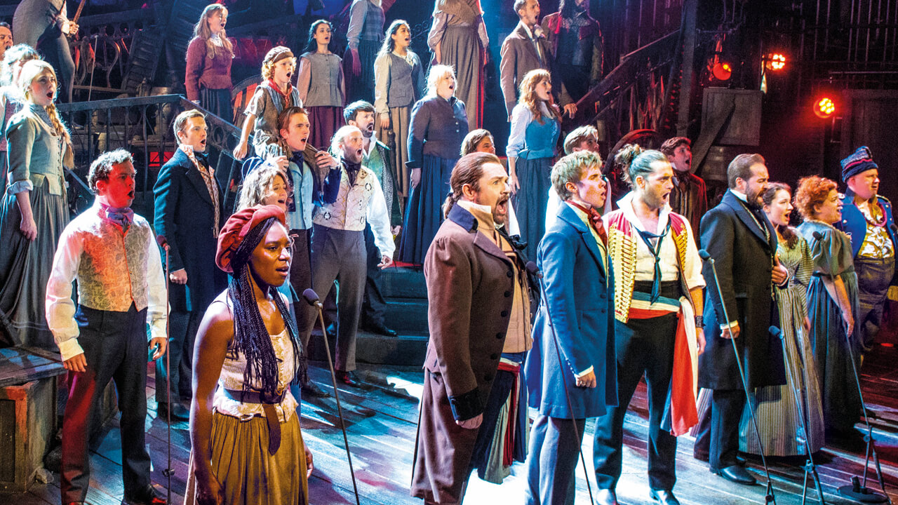 Les Misérables – The Staged Concert on stage